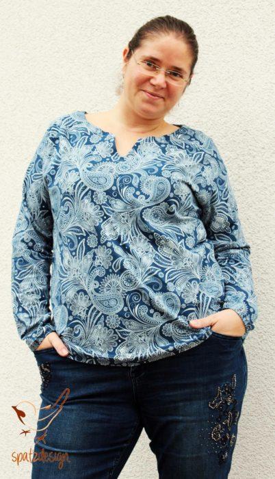 XL Schnittmuster für Damen LUNA XL Shirt mit Schulterpasse