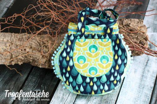Frühstück bei Emma - Tropfentasche - Taschenschnittmuster aus der Taschenspieler 2 als Komplett Ebook Taschenschnittmuster Sammlung Bundle von farbenmix
