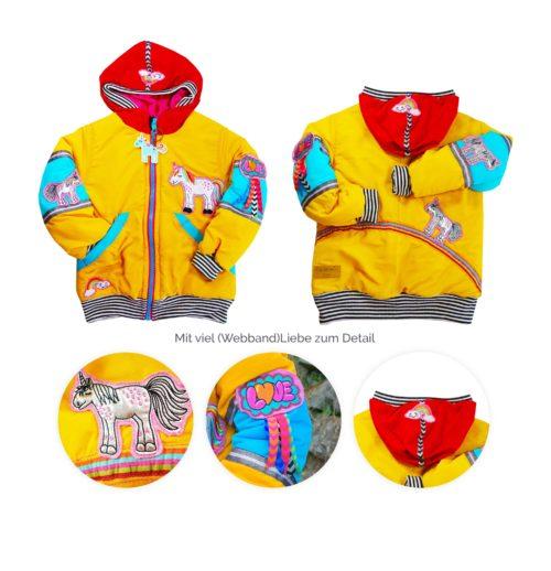 Jacken nähen Schnittmuster für alle Jahreszeiten- FELIX von farbenmix - Übergangsjacke Kinderblouson