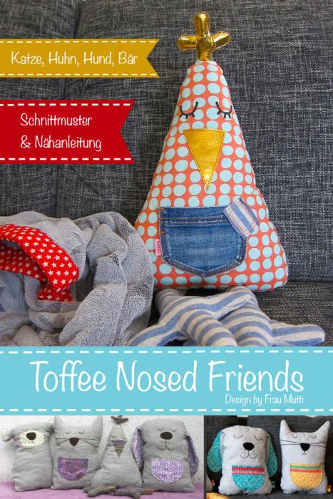 Stofftier nähen Osternähidee von farbenmix Toffee Nosed Friends