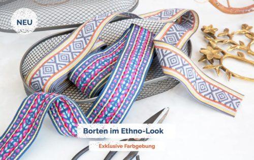 Jacquard Bänder jetzt neu im farbenmix Shop - im tollen exklusiven Farben