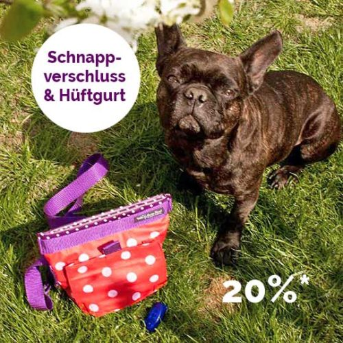 Leckerlibeutel für Hunde selber nähen mit dem Schnittmuster von farbenmix Ebook