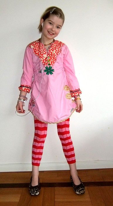coole Tunika für Mädchen Nähen Ebook und Schnittmuster Sammy von farbenmix