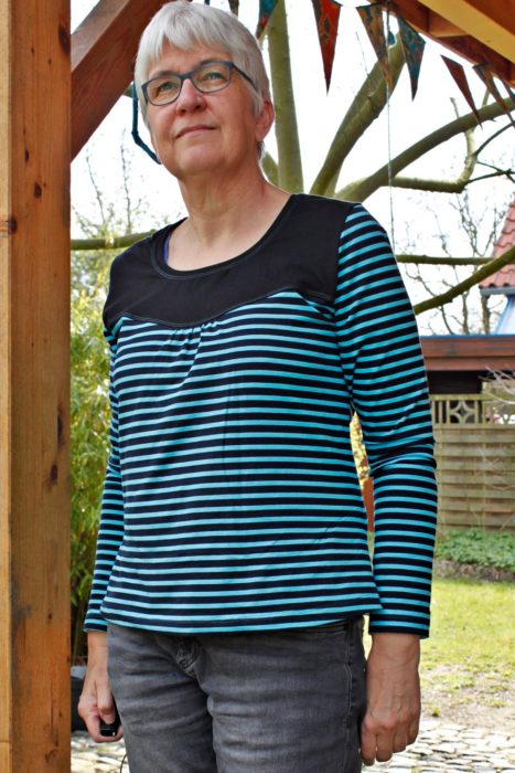 Schnittmuster Fanö als Ebook und Papierschnittmuster bei farbenmix erhältlich - Basic Shirt nähen