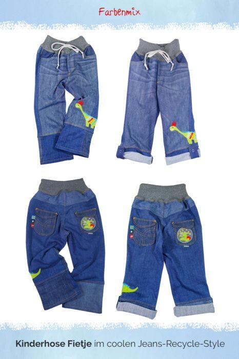 boyfriend Jeans für Kinder nähen mit dem Schnittmuster Fietje von farbenmix