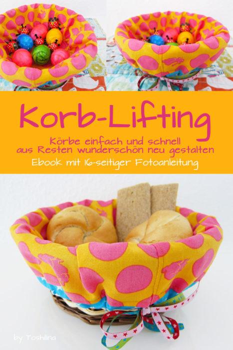 Hübsches für die Ostertafel. Korb Lifting - Anleitung um deinen Brotkorb oder Osterkorb zu verschönern.