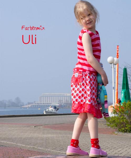 Schnittmuster ULI - Tolle Sommerkombi für Mädchen nähen mit Ebook und Anleitung von farbenmix