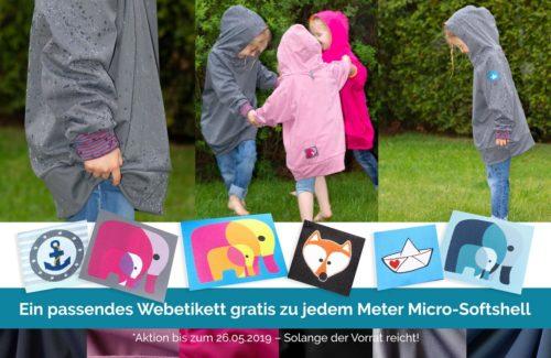 Micro Softshell wunderbar leicht und wasserdicht - ideal für Pullis