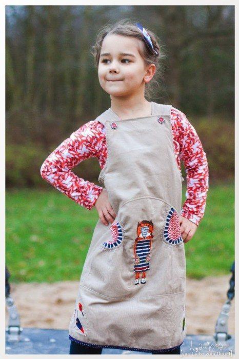 Celina - Kinderträgerkleid nähen mit Schnittmuster von farbenmix
