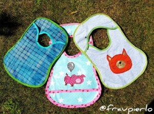 Kinderlätzchen nähen mit der kostenlosen gratis Anleitung und Schnittmuster Ess Dress erhältlich bei farbenmix