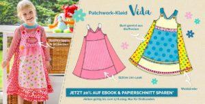 Vida - das Trägerkleid das lange mitmachst. Selber nähen mit dem Ebook und Papier Schnittmuster von farbenmix