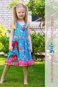 Sommerschnittmuster für Kinder Neckholderkleid Yola von farbenmix