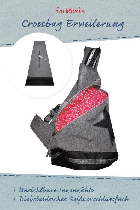 Crossbag Erweiterung farbenmix Schnittmuster