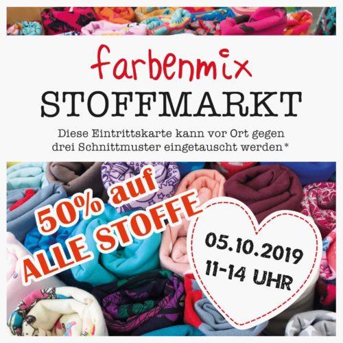 farbenmix Stoffmarkt Oktober 2019