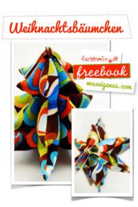 Freebook kostenloses Schnittmuster von farbenmix Weihnachtsbäumchen