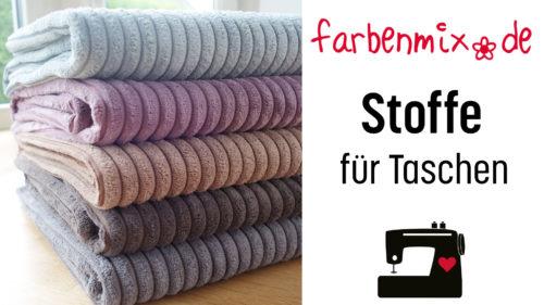 Stoffe für Taschen - Ein Video von farbenmix