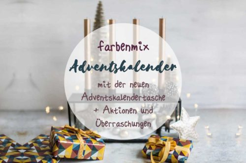 Materialliste farbenmix Adventskalendertasche 2019