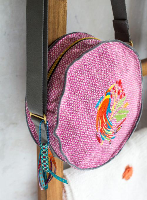 Seitenansicht Rundtasche Taschenspieler 5 farbenmix Taschenschnittmuster