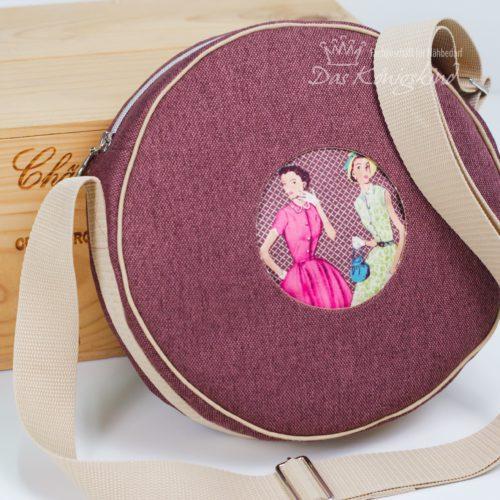 Designbeispiel Taschenschnittmuster runde Tasche von farbenmix