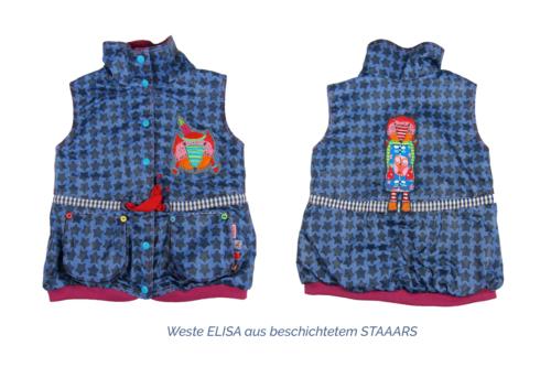 Kinderweste Elisa von farbenmix aus beschichteten Stoff prima als Outdoorweste