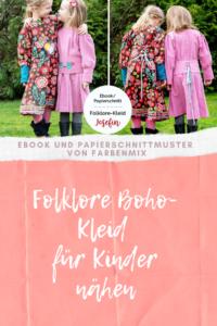 Folklore Kleid für Kinder nähen