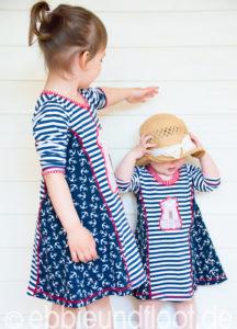 Jerseykleid nähen mit leichten Schnittmuster von farbenmix KIARA