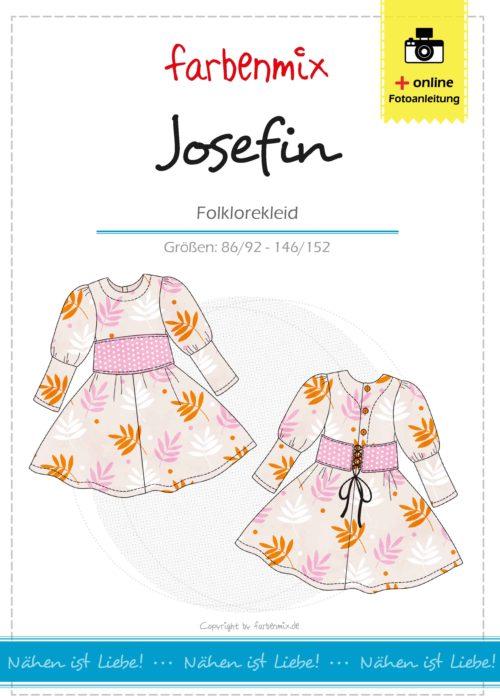 Folklore Kleid für Kinder nähen mit Josefin von farbenmix als Ebook und Papierschnittmuster