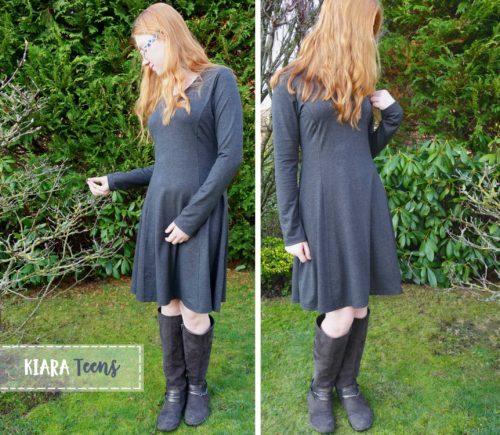 Kiara Teens ein Schnittmuster für ein figurbetontes Jersey Kleid nähen