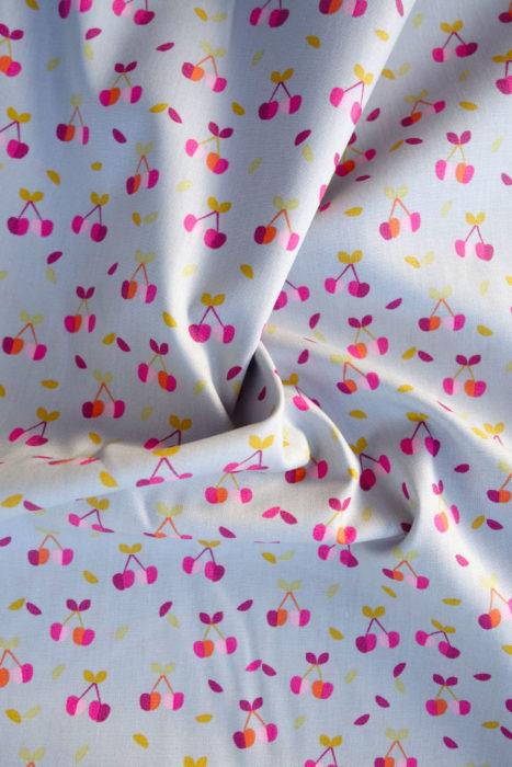 Baumwolle Popeline mit Kirschen