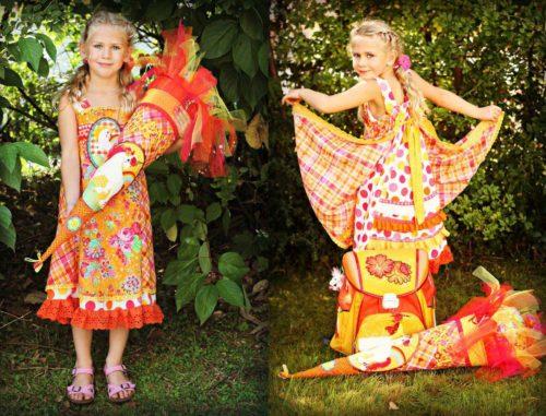 Einschulungskleid Webware Kleid nähen Schnittmuster farbenmix
