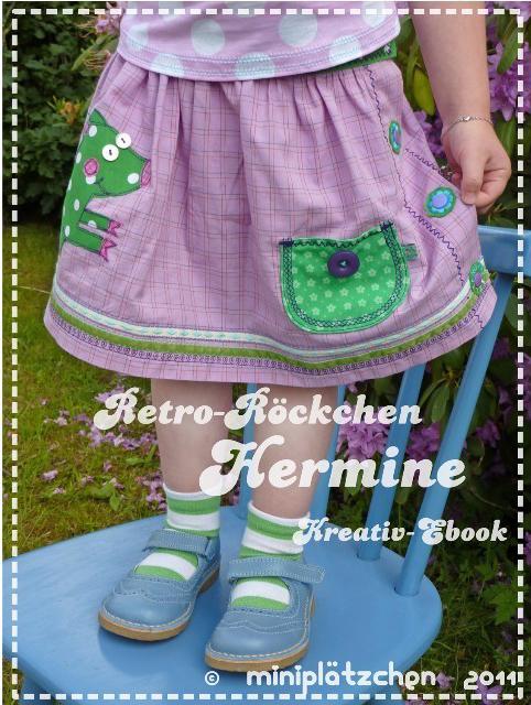 leichte Nährprojekte aus Webware für Kinder Hermine Rock Ebook farbenmix