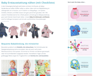 Kleiner Bildschirmausschnitt Erstausststattung für Babys nähen mit Schnittmustern von farbenmix