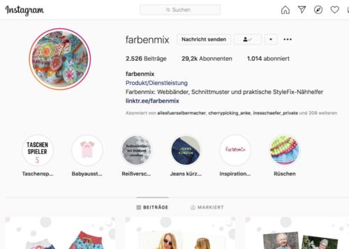 News von farbenmix Instagram