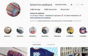 News von farbenmix Instagram Webband