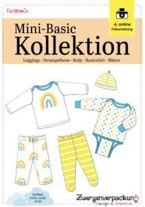 Mini Basics Kollektion Erstausstattung für Babys nähen mit Ebooks und Freebooks von farbenmix
