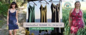 Damenjersey Kleid mit Knoten nähen- jetzt mit Elena design bienvenido colorido