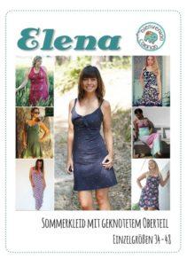 Damenjersey Kleid mit Knoten nähen ELENA erhältlich bei farbenmix als ebook und Papierschnittmuster
