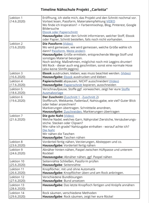 Update farbenmix Nähschule Timeline