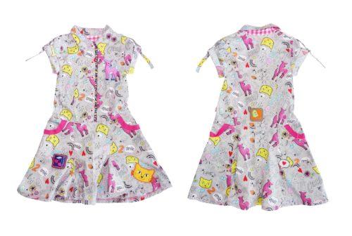 Hemdblusen Kleid für Mädchen nähen Kinderkleider im farbenmix Shop