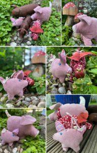 Schweinchen nähen Schnittmuster Wollmiilchsau Ebook