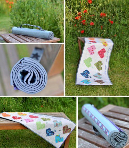 Urlaub zu Hause Nähinspiration Picknickdecke, Yogamatte, Sitzablage