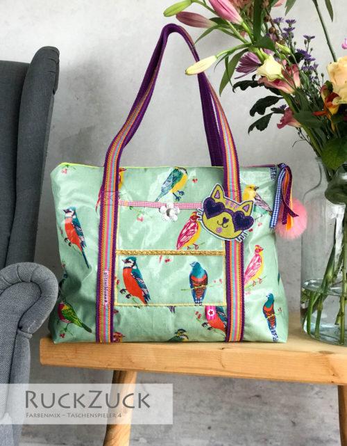 Ruckzuck Tasche aus Wachstuch beschichteter Stoff