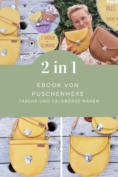 2 in 1 Ebook Taschen nähen Geldbörse nähen farbenmix