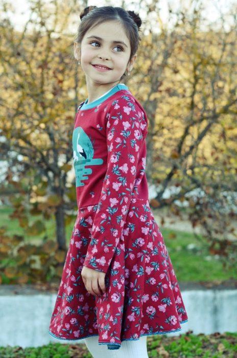 Nurita Nähprojekte für den Herbst Jerseykleid nähen mit Ebook und Papierschnittmuster farbenmix