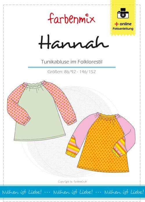Tunikabluse für Kinder nähen mit Hannah