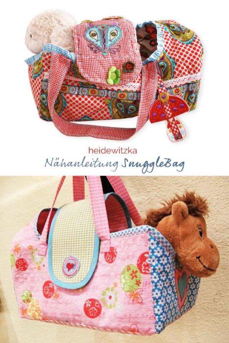 Kuscheltiertragetasche nähen mit dem Ebook SnuggleBag von farbenmix /heidewitzka