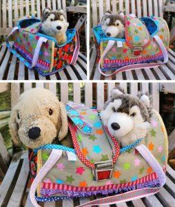 Kuscheltiertragetasche Puppentragetasche nähen