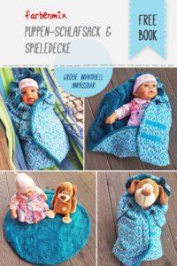 Puppenschlafsack nähen mit dem Freebook von farbenmix