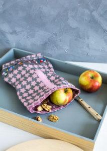 Freebook Frühstückshüter aus beschichteter Baumwolle Farbenmix Nähanleitung
