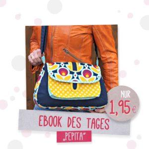 Ebook des Tages Umhängetasche Pepita Design bienvenido colorido